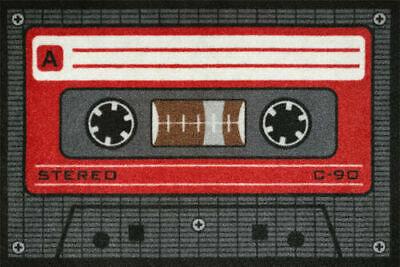 Alfombrilla Tape Rojo Casete Cassette Felpudo de Puerta Mat Estera contra