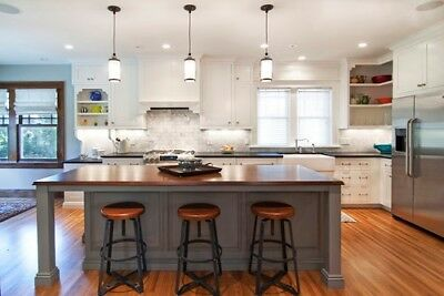 Custom Kitchen Island (*6ft Gray kitchen island with solid wood topmade in US (custom available)