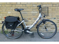 Unisex IDEAL Carrier Silver/Black City Bike In Excellent Working Condition