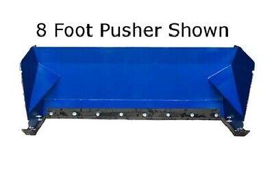 New 8 Skid Steertractor Loader Snow Box Pusher Plow Bobcatjohn Deere Cat 96