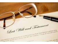 Will Writing & Lasting Power of Attorney prepared in your own home. SRA Solicitor drafted.