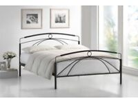 Kappa King Size 5'0 Metal Bed Frame Graphite Finish New Boxed