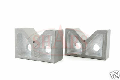 2 Cast Iron Pair V-blocks V-block Vblocks Ground New