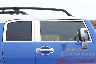 07-14 Toyota FJ Cruiser Mirror Polished Window Trim Kit