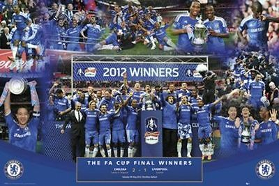 SOCCER POSTER Chelsea FA Cup 2012 Winners