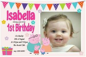 Peppa Pig Party Invitations X 10