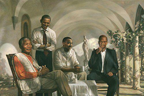 CIVIL RIGHTS PIONEERS - ART POSTER 24x36 - KING MANDELA MALC