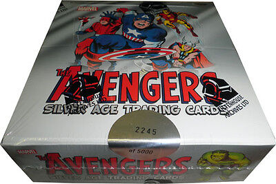 Marvel Avengers Silver Age Factory Sealed Trading Card Box
