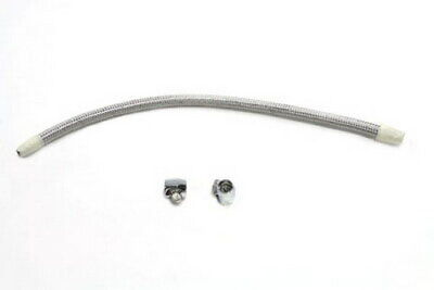 BRAIDED STAINLESS STEEL GAS TANK CROSSOVER LINE KIT 1/4