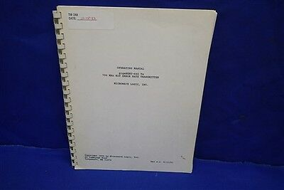 Microwave Logic Gigabert-660 Tx Transmitter Rev 2.4 53191 Operating Manual