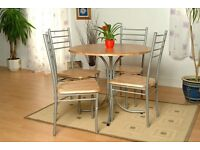 ** 14 DAYS CASH BACK GUARANTY ** Beautiful BUDGET Dinning SET With 4 X CHAIRS + SAME DAY DELIVERY