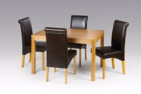 BALGRAVIA OAK TABLE WITH 4 CHAIRS BRAND NEW SAME DAY DELIVERY ALL OVER LONDON