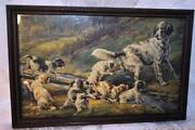 Vintage Framed Dog Print