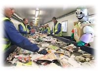 Recycling workers needed for immediate start in Luton Days or Nights