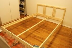 NEW IKEA FJELLSE double bed, in original flat pack (needs some DIY)