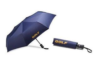 VW Volkswagen Golf Umbrella, Blue Genuine New Collection 2017