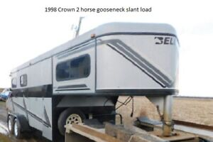 1998 Crown 2 horse slant load gooseneck - model Belore