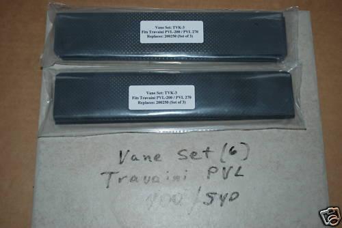 Vanes fit Travaini PVL 400 vacuum, repl pn 200250