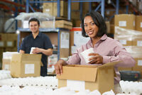 Hiring Many Packaging Staff in Brantford Paying $13.50 per hour