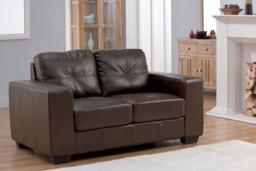 Surprising Sofa Durban 2 Seater Brown Bonded Leather Foldable Sofa In Haslingden Lancashire Gumtree Beatyapartments Chair Design Images Beatyapartmentscom