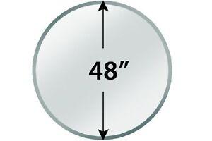 """48"""" SMOKED  GLASS  TABLE  TOP"""