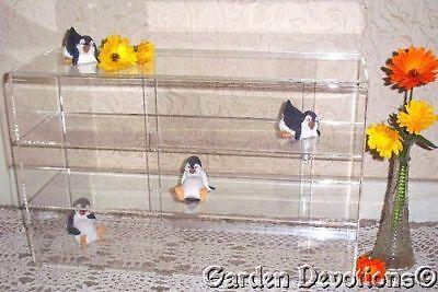 Display Case Counter Table Top 3 Shelf Long Theftproof Locks Plexiglass