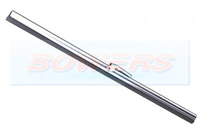"10"" INCH CLASSIC CAR STAINLESS STEEL FLAT WIPER BLADE 5mm PUSH ON BAYONET FIT"