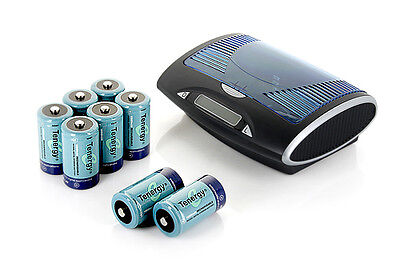 Tenergy T9688 LCD Smart Charger+8PCS 10000mAh D Size NiMH Rechargeable Batteries, used for sale  Shipping to India