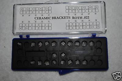 Dental Orthodontic Ceramic Brackets Roth 0.22 Box 20 Pcs Sky