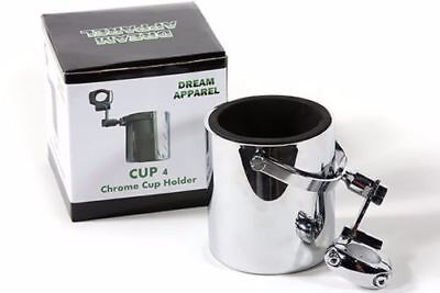 Motorcycle Cup Holder Chrome Handlebar Drink Bottle Holder for Harley Universals (Motorcycle Cup Holder)