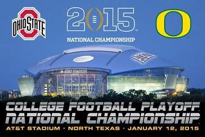 COLLEGE FOOTBALL NATIONAL CHAMPIONSHIP GAME 2015 POSTER Ohio State vs