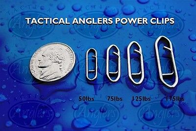 Tactical Anglers Power Clips Paperclip Fishing Lure quick Snap 30 BULK pack 50lb