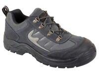 Blackrock Stormchaser Safety Trainers, Grey & Black, Steel Toe Caps. Size 6
