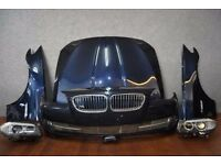 1 set of OEM Left hand drive Front end BMW 5er F10 F11 2010 - 2016 LHD Bonnet Bumper Headlight etc