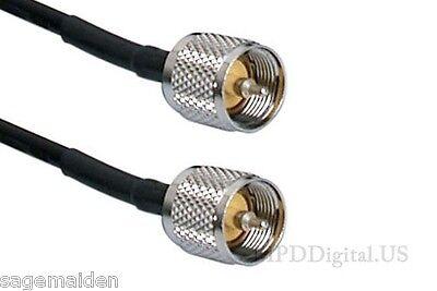 16 Inch Lmr-240 Coax Pl259 Connectors 50 Ohm Commercial Ham Radio Rf Cable