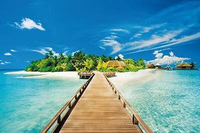 Summer Holiday   Tropical Scenic Poster 24X36   Beach Ocean Island 1531