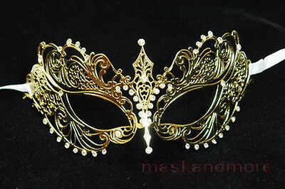 laser cut Venetian Butterfly Masquerade wedding Rhinestones Party ball Mask Gold - Butterfly Masquerade Mask