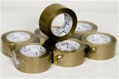 Tan Brown 2.0 Mil Packing Tape 2 X 110 Yd Roll Case Of 6 Rolls Brand New
