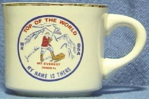 BSA Mug Top of the World Mt. Everest Western Region - MY NAME IS THERE