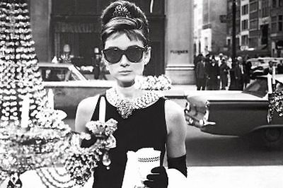 AUDREY HEPBURN - BREAKFAST AT TIFFANY'S POSTER - 24x36 SHOPPING 48145 (Audrey Hepburn Breakfast)