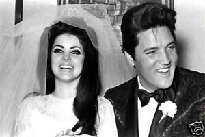 Elvis-Priscilla-Presley-Wedding-10x8-Photo