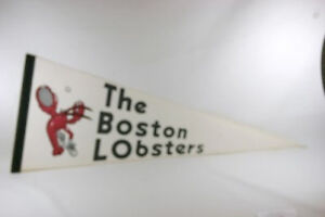 Vintage-1970s-Boston-Lobsters-tennis-pennant-NICE