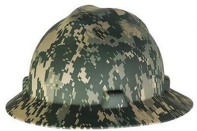 MSA 10104254 V-Gard Camouflage Full Brim Hard Hat w FasTrac Ratchet Suspension