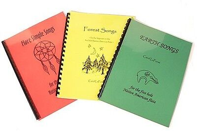 Song Books SET for 5 hole Native American Flute