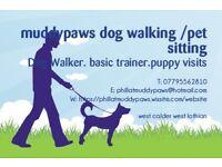 DOG WALKING/PET SITTING .MUDDYPAWS WEST LOTHIAN &SURROUNDING AREAS