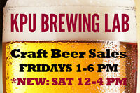 KPU Brewing Craft Beer Fills & Free Tastings!