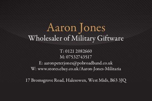 Aaron Jones Militaria