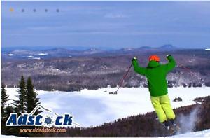 22$ DEAL...Billets de ski et glissade MONT-ADSTOCK !!!