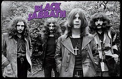 BLACK SABBATH POSTER - EARLY GROUP SHOT - OZZY OSBOURNE