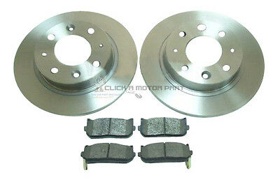 KIA CARENS 2000 2005 ALL MODELS REAR 2 BRAKE DISCS AND PADS SET NEW
